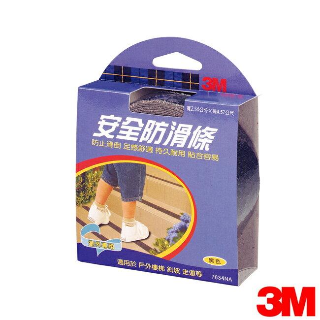 3M 樓地板防滑條(2.54 x 4.56cm/室外專用,黑色)