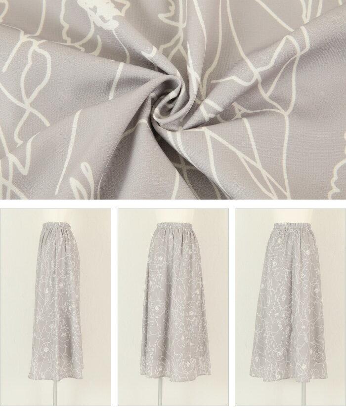 日本Titivate  /  滿版印花腰鬆緊雪紡長裙  /  avjr1100  /  日本必買 日本樂天直送(3590) /  件件含運 5