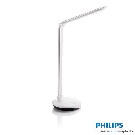 PHILIPS 飛利浦 5W LEVER酷恒LED檯燈(銀) 72007