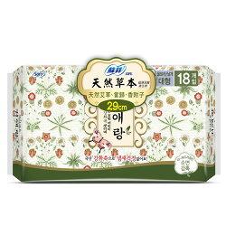 蘇菲天然草本衛生棉29cm 18片【愛買】