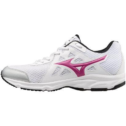 MIZUNO MAXIMIZER 女鞋 慢跑鞋 健走鞋 寬楦 網布 環保皮革 膠底 白黑 【運動世界】 K1GA170159