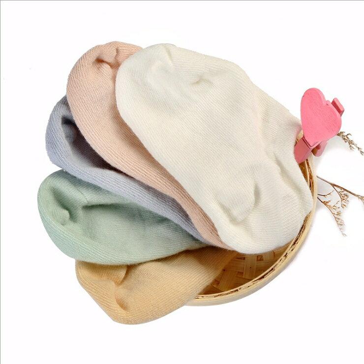 WallFree窩自在~ 百搭純色舒適隱形兒童船襪男女童船型襪 一盒5雙