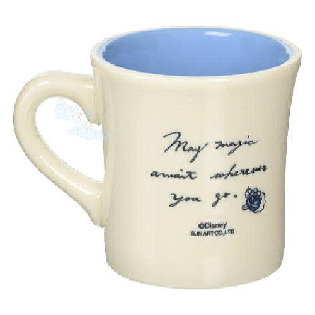 日本製 陶瓷馬克杯 野獸 王子 迪士尼 馬克杯 水杯 杯子 單耳杯 杯 4942423240877 真愛日本