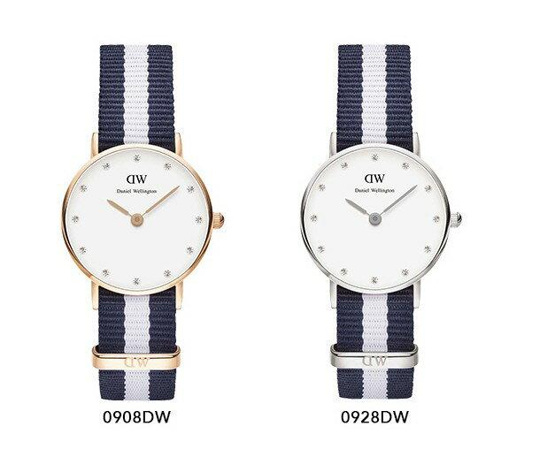 瑞典正品代購 Daniel Wellington 0928DW 銀 玫瑰金 尼龍 帆布錶帶 女錶手錶腕錶 26MM 1