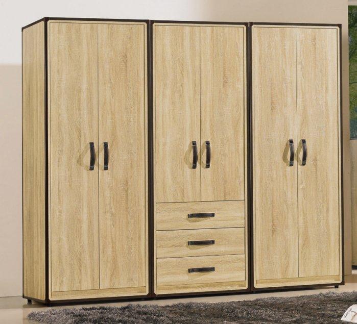 【 尚品傢俱】JF-561-6 溫蒂2.5尺橡木紋雙吊衣櫃