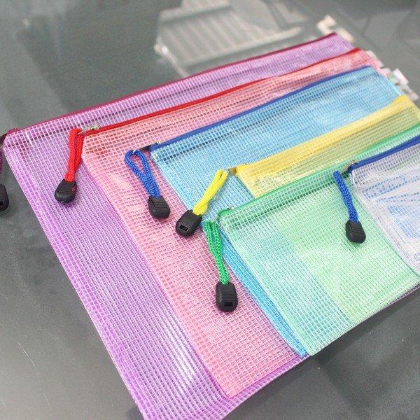B8網格拉鏈袋 網狀拉鍊袋 CS330 網格收納袋 PVC文件袋 12.5cm x 10cm 網格袋/一包10個入{促15}