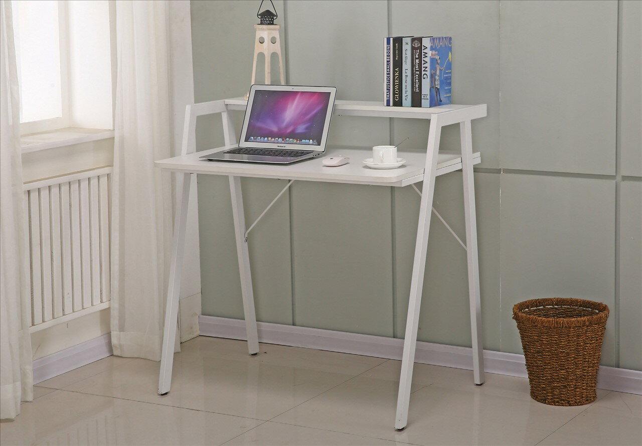 【石川家居】KF-885-3 米雅3尺白色雙層書桌(不含其他商品) 需搭配車趟
