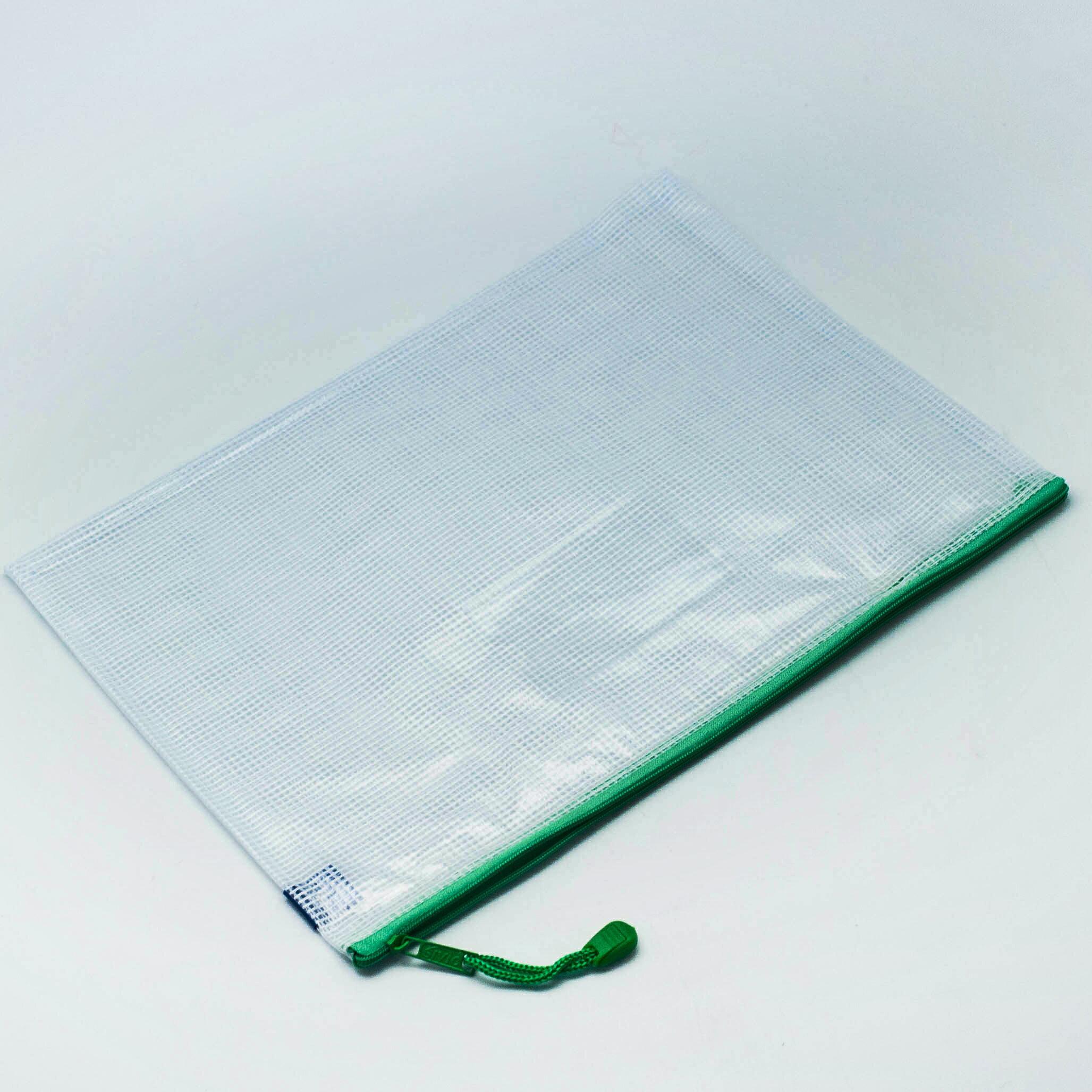 {九聯百貨} COX 三燕 單層網格拉鏈袋 A4 網格橫式拉鏈袋 文件袋 NO.564H