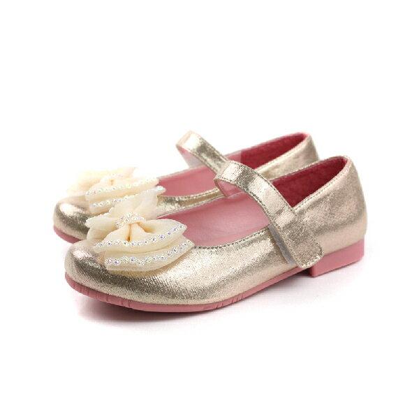 娃娃鞋 金色 中童 no137