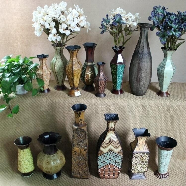 巴洛克復古花瓶花盆器 仿古董樣別墅會所擺件 櫥窗陳列 家居裝飾1入