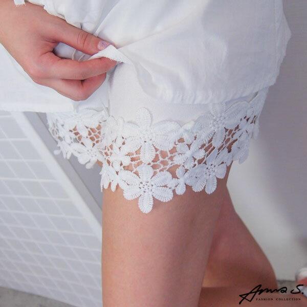 緹花蕾絲短褲 安全褲 熱褲襯裙 顯瘦長腿百搭 韓國連線早春 Anna S.