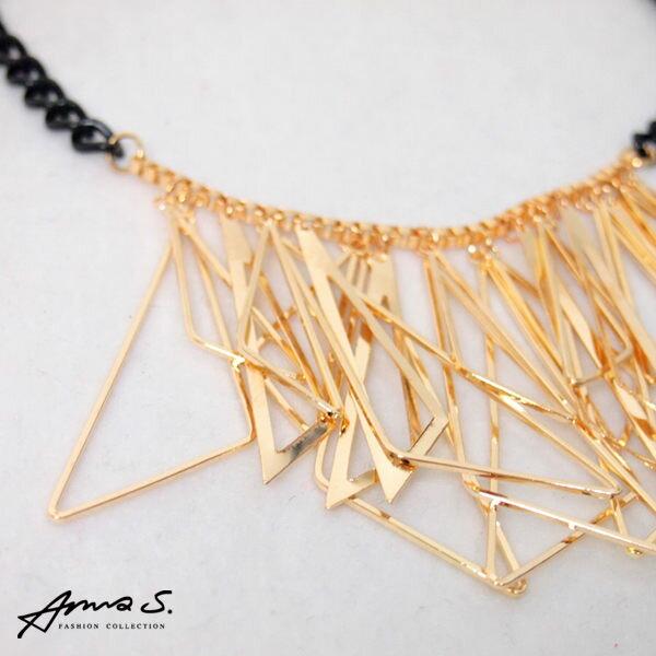 Anna S. 項鍊 不規則三角項鍊 金屬銅 韓劇明星款 特價299