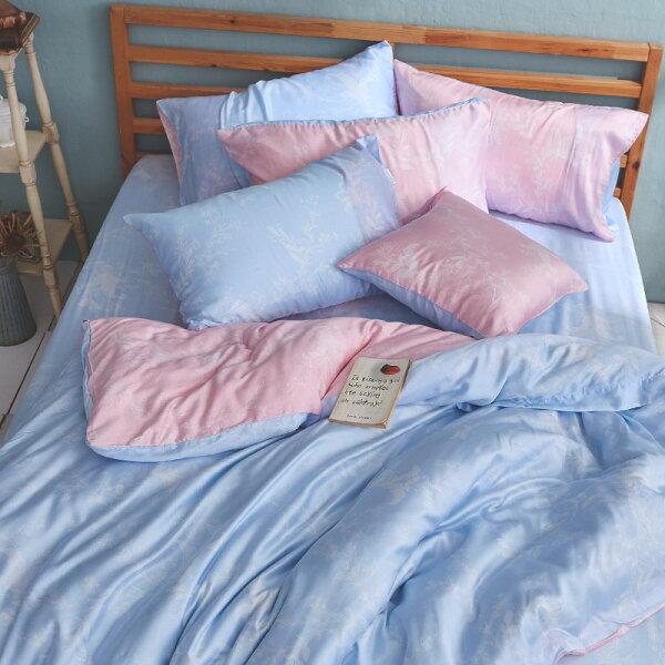 床包雙人加大-100%純天絲【夏綠蒂】40支天絲,含兩件枕套,戀家小舖