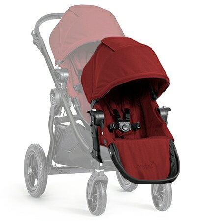美國【Baby Jogger】City Select 推車專用雙人第二座椅(紅)黑管 - 限時優惠好康折扣