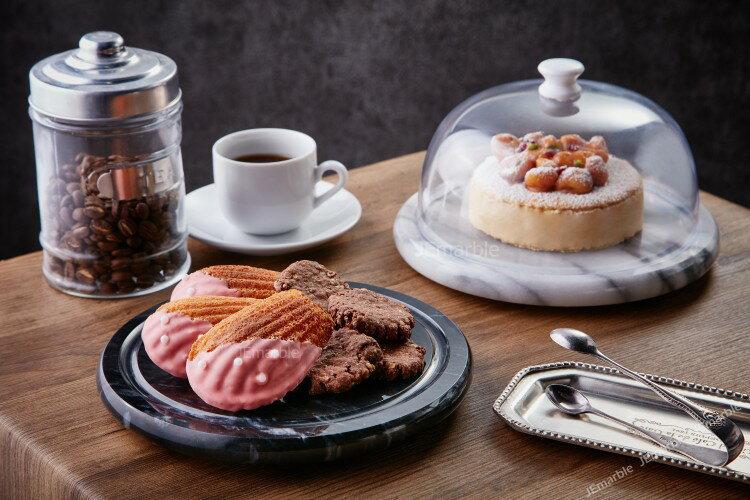 大理石迷你保鮮盤/蛋糕盤/乳酪盤 (附塑膠蓋)