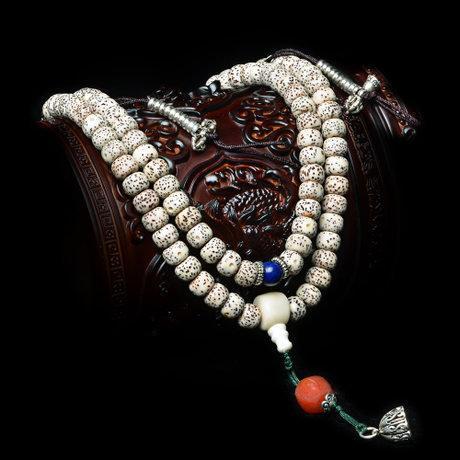 白色星月菩提佛珠手鏈手串星月菩提念珠增福護身