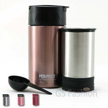 珍昕生活網:【珍昕】金緻316不銹鋼真空咖啡萃取杯450cc~3色(.不銹鋼色玫瑰金酒紅色)免運