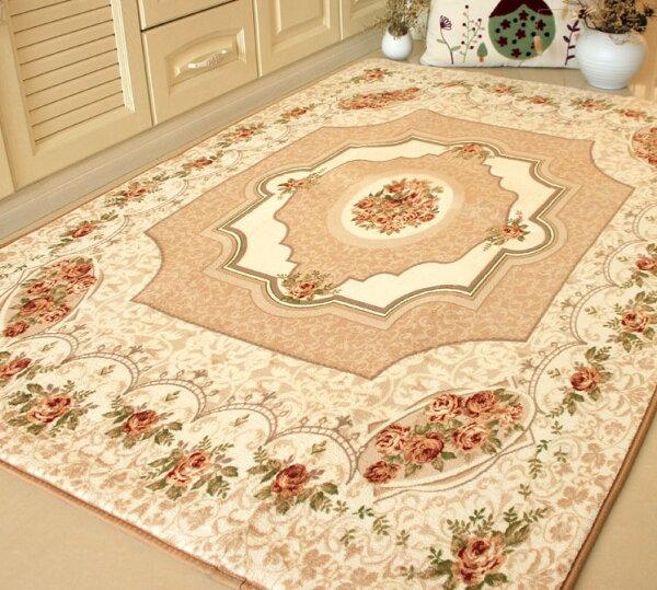幸福家居商城:外銷日本等級出口日本190*280CM高級羊毛質感高雅歐風臥室客廳地毯(客戶訂製款)