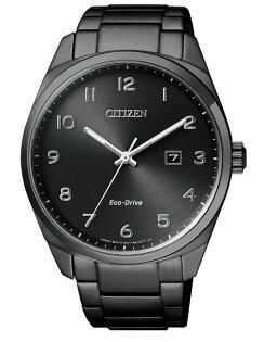 CITIZEN星辰錶BM7325-83E現代簡約黑光動能腕錶黑面43mm