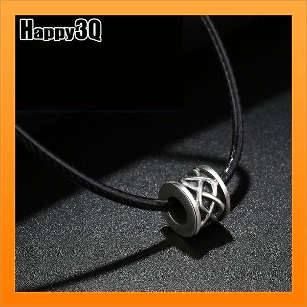 簡約幾何圖形帥氣項鍊酷飾品男生項鍊99純銀飾品皮繩項鍊百搭-短長【AAA4250】