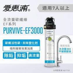 【台灣愛惠浦】EVERPURE 強效碳纖維長效型淨水器(PURVIVE-EF3000)