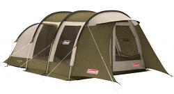 【Coleman 美國】綠橄欖版 隧道式帳篷 2 ROOM LDX 套裝組 一房一廳帳 (CM-33801M000)