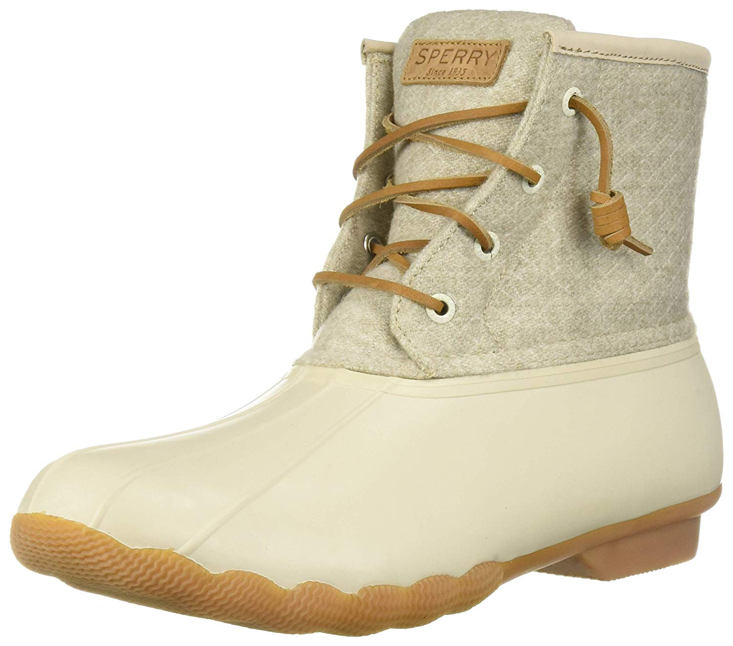 7b2798290 PairMySole: Sperry Womens Saltwater Duck Booties Fabric Closed Toe ...
