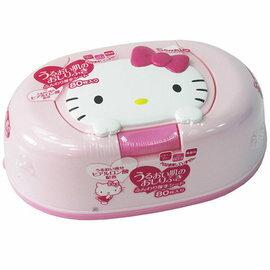 日本限定三麗鷗 Hello Kitty造型 盒裝濕紙巾-內含80枚紙巾 盒子可重複使用
