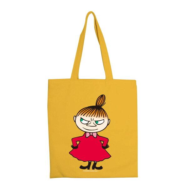【嚕嚕米Moomin】彩色手提購物包-LiitleMy(粉紅黃色)