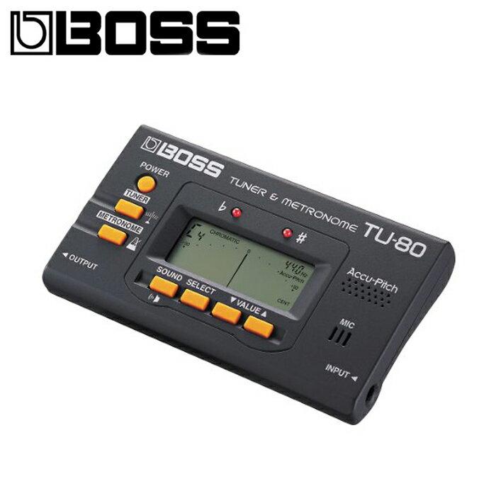 ~非凡樂器~BOSS TU~80 Chromatic Tuner 調音器  節拍器 二合一