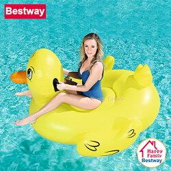 【歡樂家庭零售批發網】歐洲Bestway 可愛大黃鴨充氣動物坐騎 / 充氣坐騎 / 水上坐騎 / 泳圈 / 浮排 / 戲水玩具 / 泳池派對 / 沙灘海灘(41106)