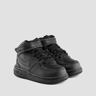 NIKE AIR FORCE 1 MID 黑 高筒 幼童鞋 US 4~10 314197-004 D