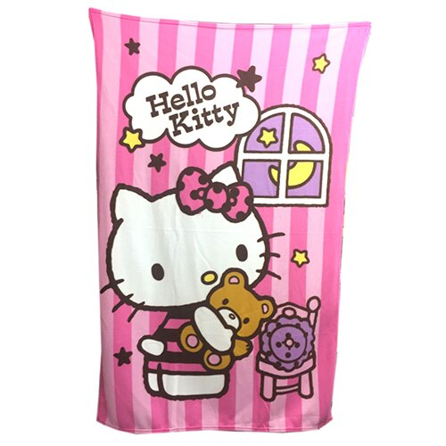 【唯愛日本】 17090800013 刷毛毯-KT晚安物語 三麗鷗 Kitty 凱蒂貓 小被子 被毯 冷氣毯