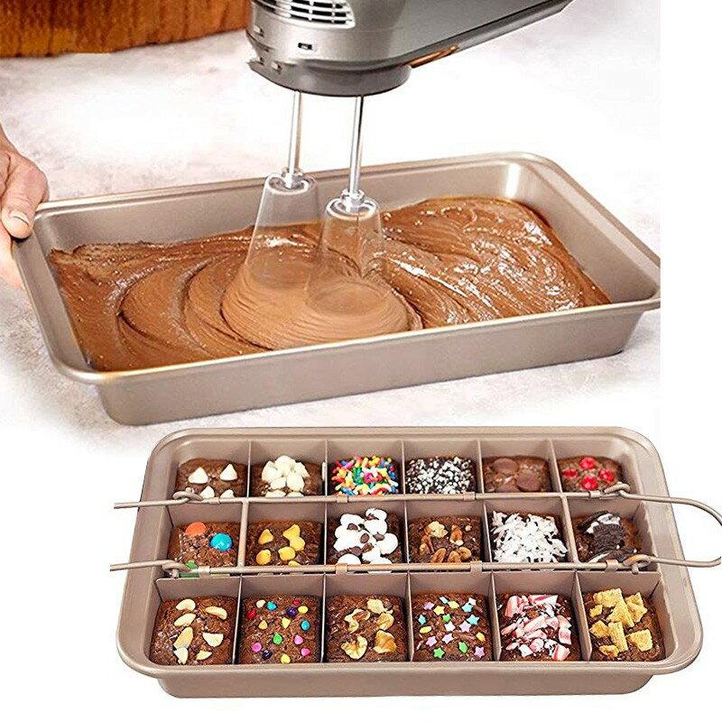 【嚴選SHOP】 18格布朗尼模具 Brownie Pan 烤模 烤盤 磅蛋糕模 布朗尼烤盤 方格布朗尼模具【K126】