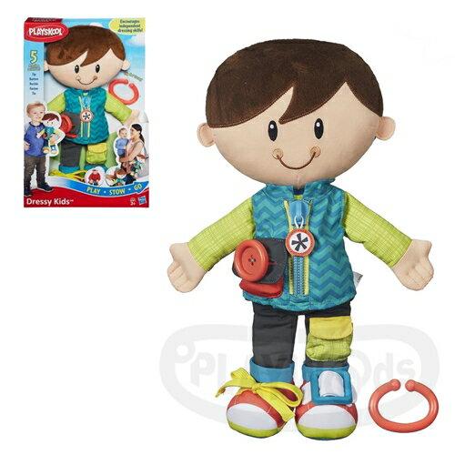 【Playwoods】[兒樂寶PLAYSKOOL]好朋友裝扮遊戲組-BOY Playskool Dressy Kids Boy(孩之寶Hasbro/可用洗衣機清洗/扮裝)