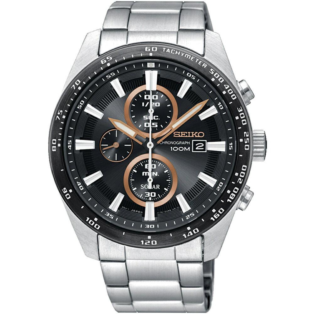 SEIKO Criteria勁速交鋒計時腕錶 V176-0AV0D SSC649P1 2