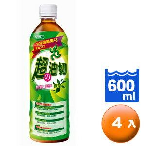 古道 超の油切 綠茶 無糖 600ml (4入)/組