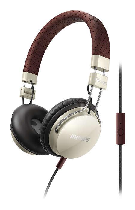 【迪特軍3C】PHILIPS 飛利浦 CitiScape SHL5505 YB 密閉式耳機 耳機麥克風米白色