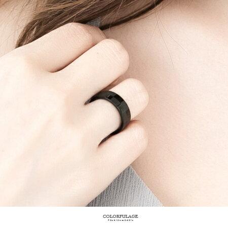 柒彩年代【NC78】霧亮面交叉戒指~西德鋼製抗過敏.氧化對戒~單支價格 - 限時優惠好康折扣