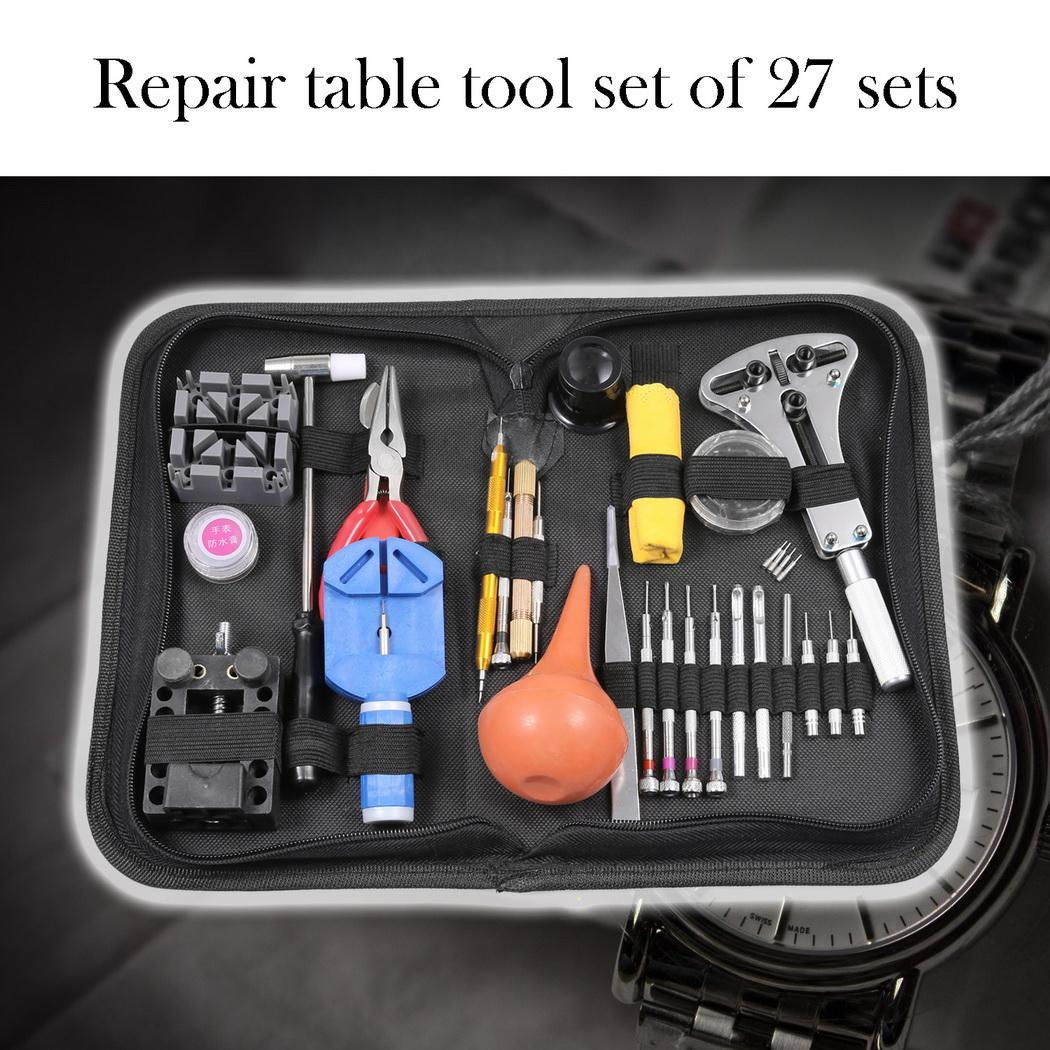 27pcs Pro Watch Link Opener Remover Kit Case Set Screwdriver Watch Repair Tool 2