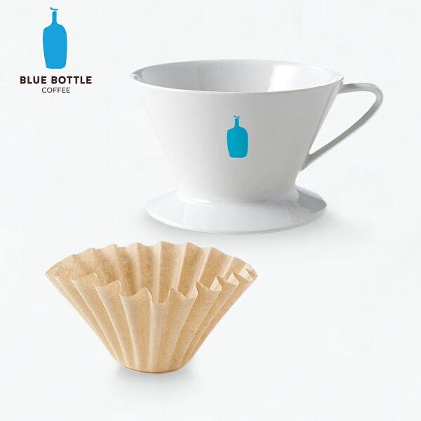 【美國Blue Bottle】有田燒陶瓷單孔咖啡濾杯+專用竹製濾紙(30入) (藍瓶 手沖 無漂白 佐賀)