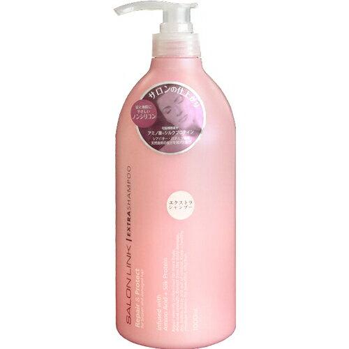 日本 熊野油脂 SALON LINK 保濕修護洗髮精(粉紅) 1000ml 沙龍級美髮品 無矽靈 *夏日微風*