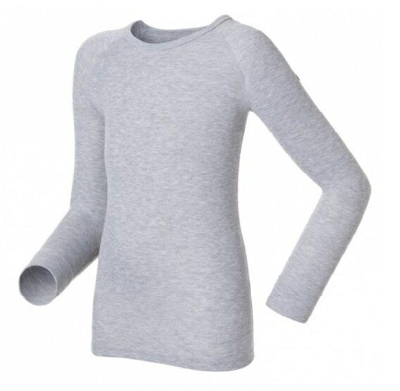 【【蘋果戶外】】odlo 10459 童衣 灰『送雪襪』瑞士 機能保暖型排汗內衣 衛生衣 發熱衣 保暖衣 長袖