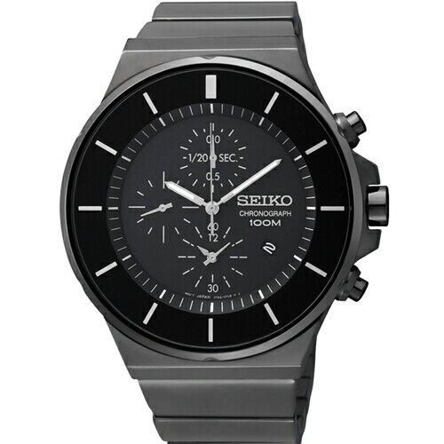 SEIKOCS風速快感三眼計時腕錶黑鋼SNDD83P1(7T92-0NG0SD)