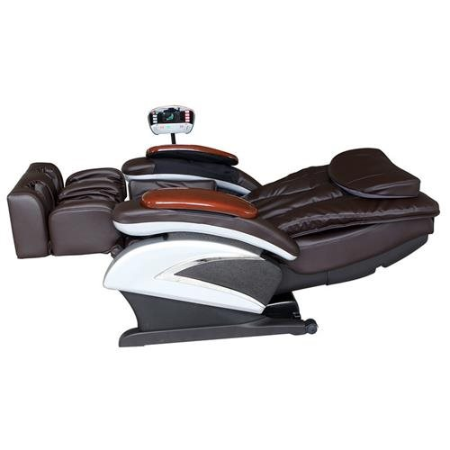 Electric Full Body Shiatsu Massage Chair Recliner Stretched Foot Rest 06C  Brown 1