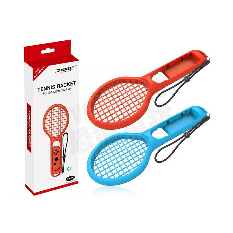 任天堂 SWITCH NS DOBE JOYCON專用 網球拍 配件 紅藍款 瑪利歐網球 王牌高手【台中恐龍電玩】