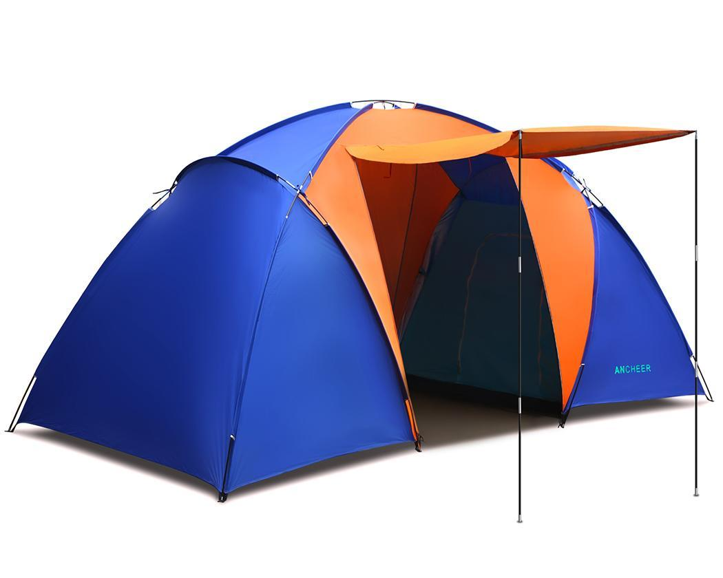 Waterproof Splicing Color 2 Room Outdoor Family Tent 1
