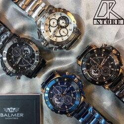官方授權經銷**正品保證** BALMER 賓馬王 賓馬 鋼錶帶 三眼錶 男錶 石英錶 藍金 黑金 霧黑 白銀 經銷商