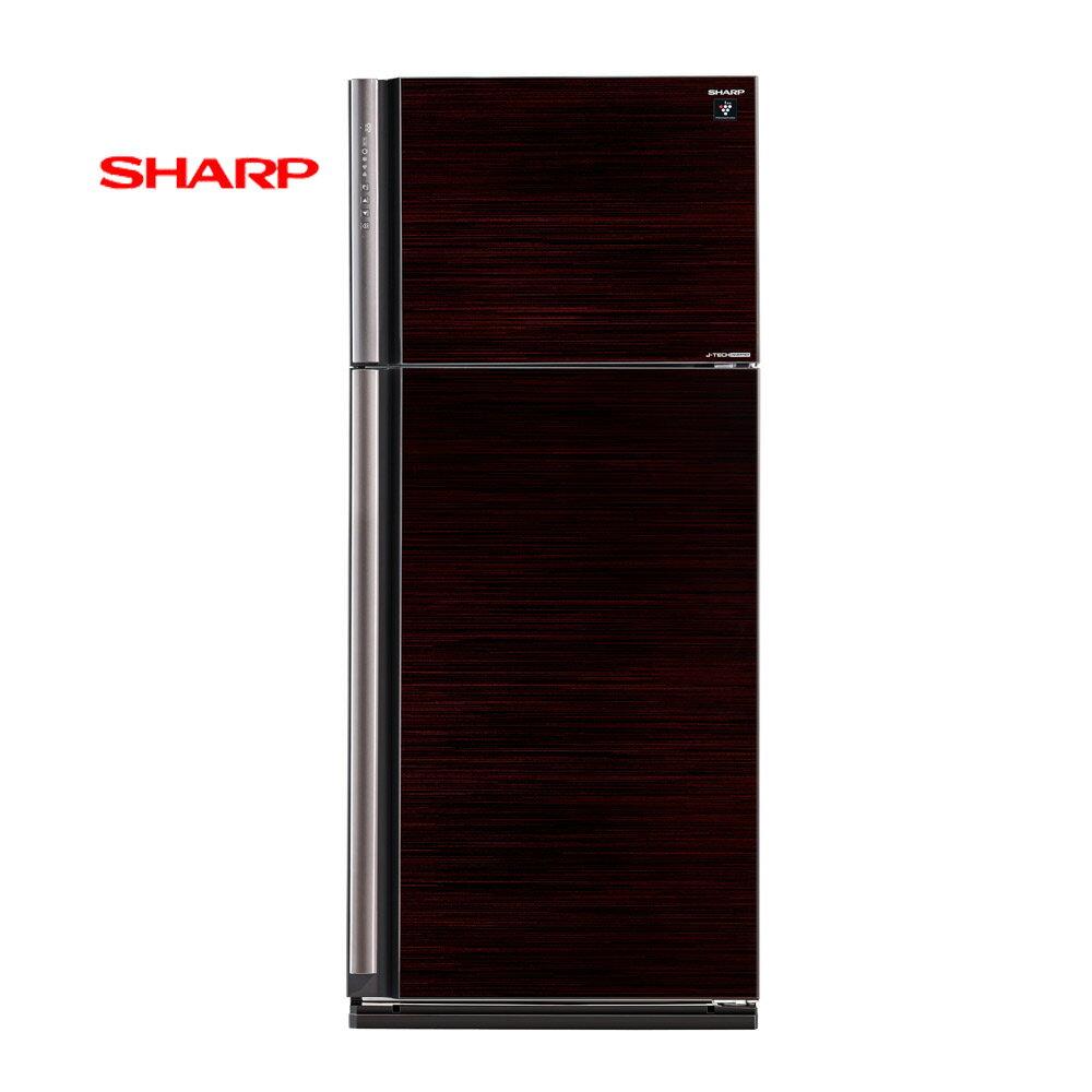來電挑戰最 SHARP夏普 變頻雙門SJ~PD58V~BK 玄武黑 強化玻璃鏡面 ~ 熱線