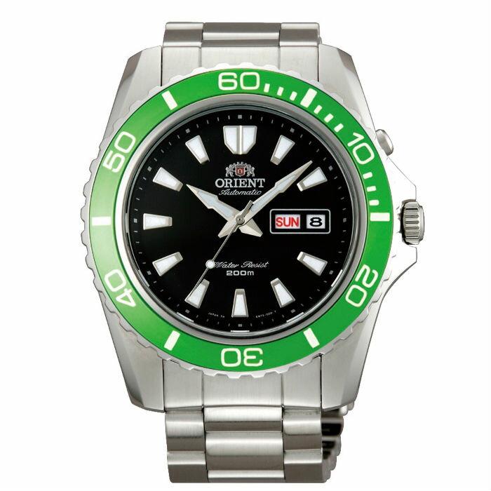 Orient 東方錶(FEM75003B)經典潛水機械腕錶/黑面綠框44.5mm